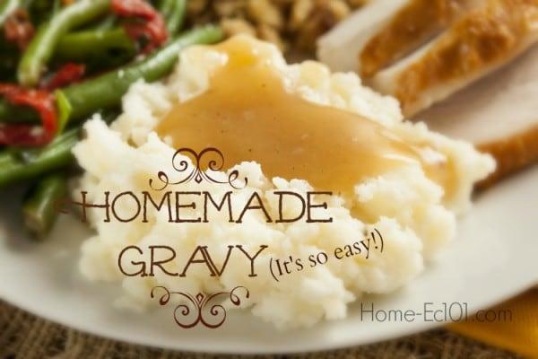 Simple Homemade Gravy/ Gravy Technique