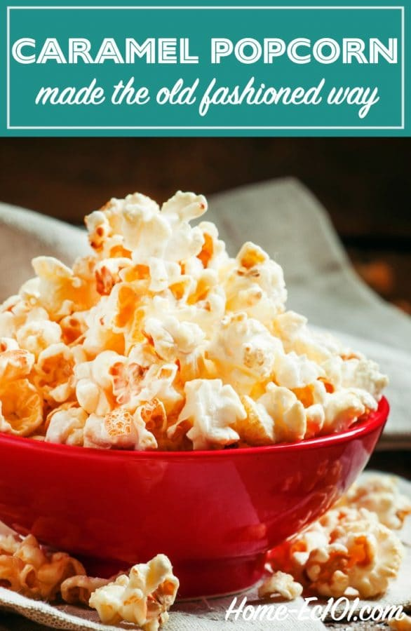 Why not try something a little different and make your own caramel popcorn? Old fashioned popcorn is superior to microwave, and kids like watching it pop.