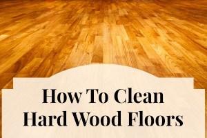 clean hard wood floors