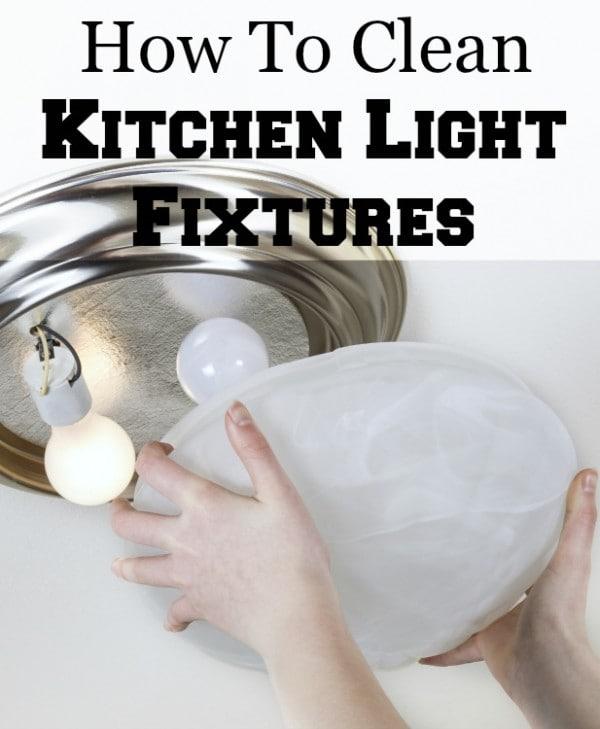 clean glass light fixture