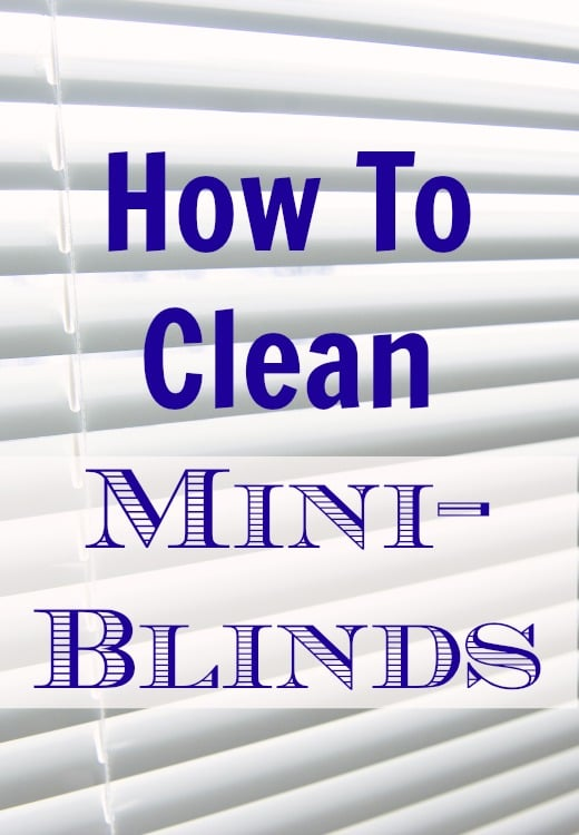 how to clean mini blinds