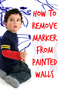 how to remove marker from paint