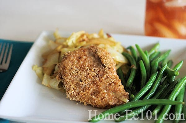 Breaded and Baked Pork Chops