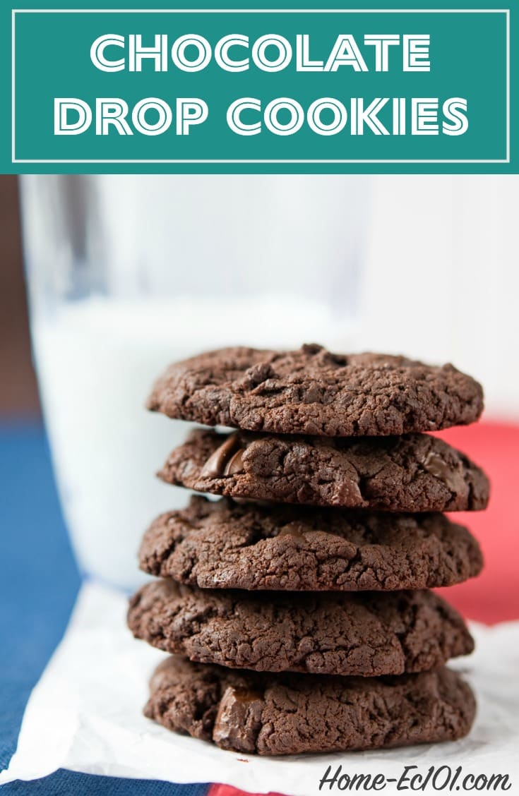 Soft and moist, these chocolate drop cookies are somewhat delicate right out of the oven.