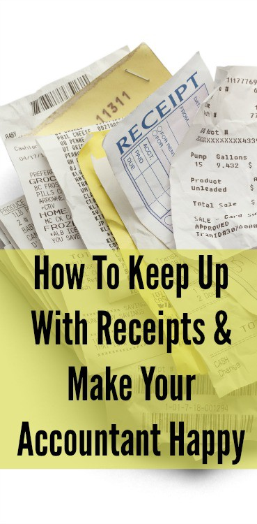 how to keep up with receipts