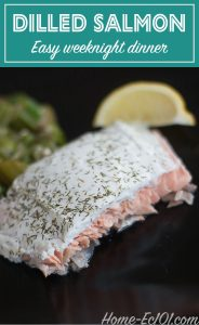 Easy salmon recipe that will have dinner on the table in less than 20 minutes.