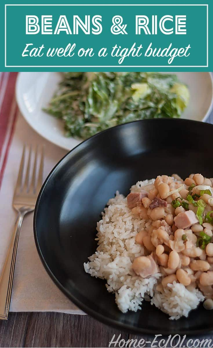Beans and Rice a Budget Friendly Dinner