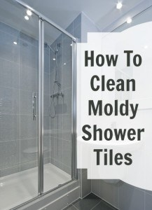 how to clean moldy shower tiles