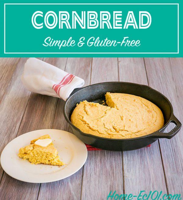 Simple sweet cornbread