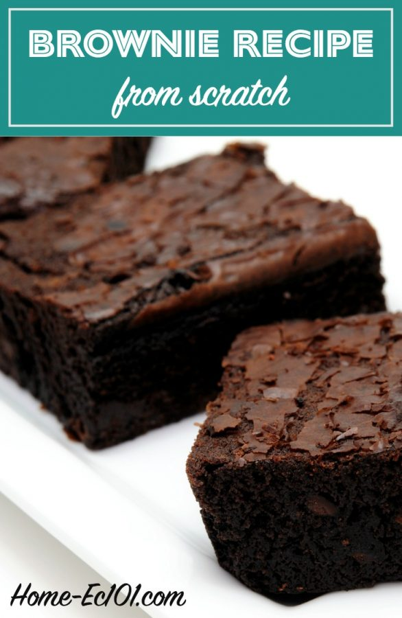 You really don't need a box mix to bake brownies. In fact you may already have everything on hand.