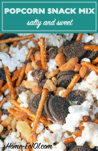 I'm a sucker for combinations of salty and sweet and this popcorn snack mix hits the spot.