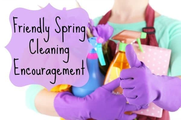 encouragement for spring cleaning