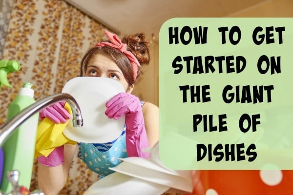 We neglect the dishes longer than just overnight and the next thing you know, there's no clean plates in the house, just a huge pile of dirty dishes.