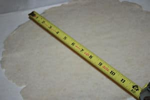 roll out to 12 inches diameter