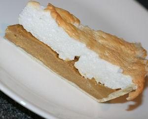 Slice of butterscotch pie