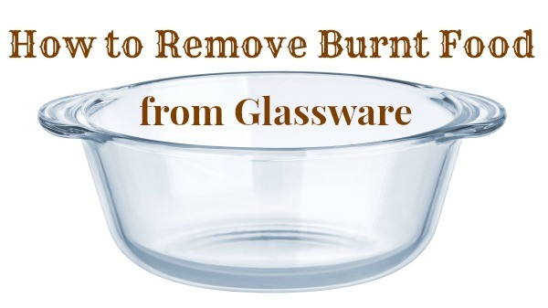 clean burnt glassware