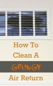 how to clean an air vent