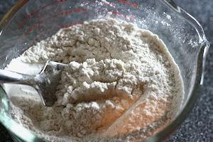 white and wheat flour
