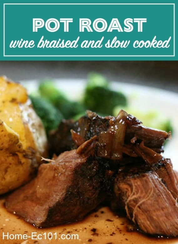 Wine Braised Pot Roast for the Crock Pot or Dutch Oven