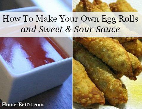 It's not that hard to make your own egg rolls and sweet & sour sauce. Here's my recipe with pictures to show you what to do.