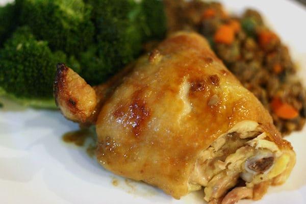 Carmelized Brown Sugar and Garlic Chicken Thighs