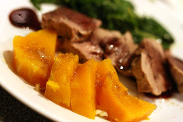 Butternut Squash with brown sugar