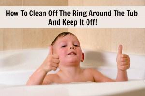 clean bathtub ring