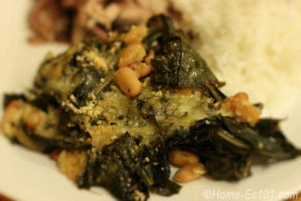Collards with northern beans