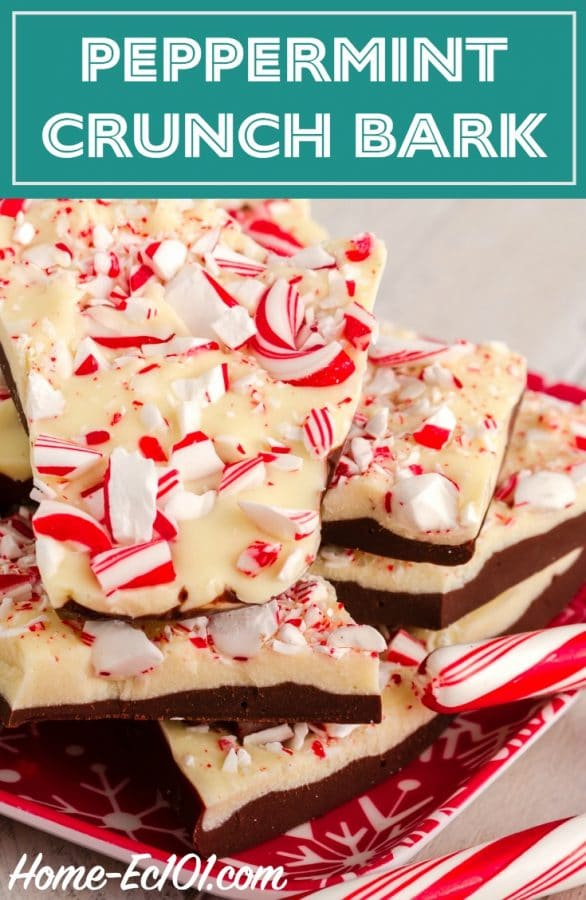 This peppermint crunch bark recipe is far easier than you're thinking. The pieces look lovely tucked into tissue paper in tins or in canning jars.