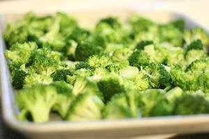 Broccoli on a sheetpan
