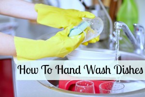 how to hand wash dishes