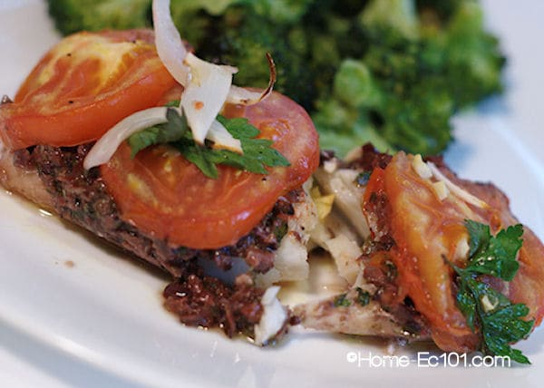 Spanish Baked Cod with Olive Tapenade