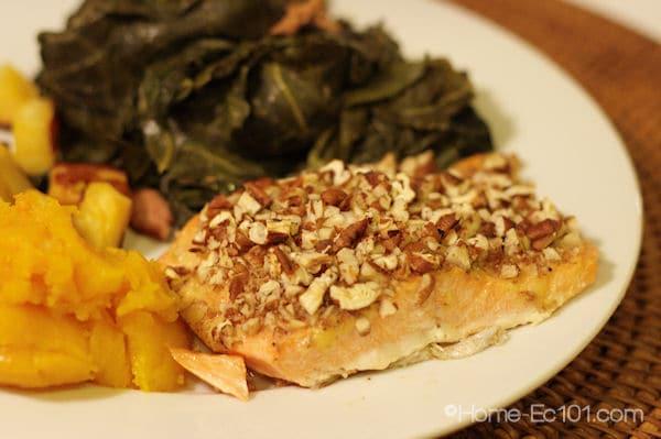 Pecan Crusted Salmon or Steelhead Trout