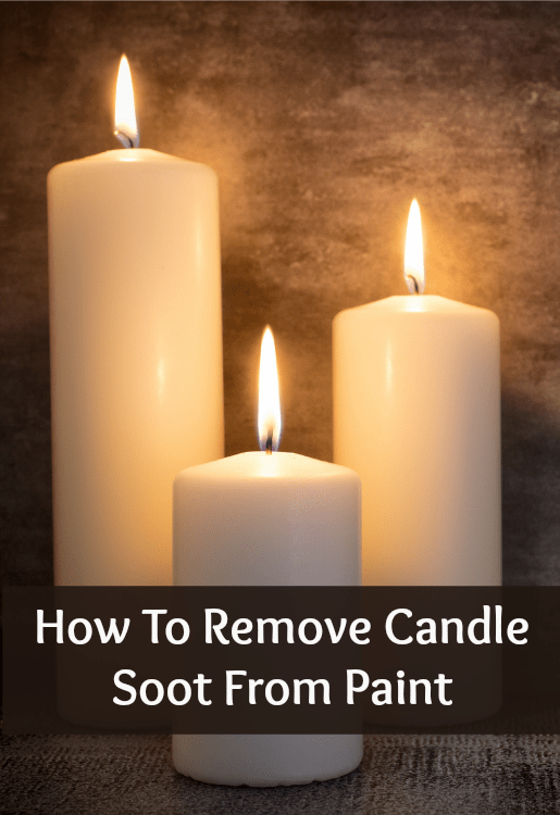 how to remove candle soot from paint