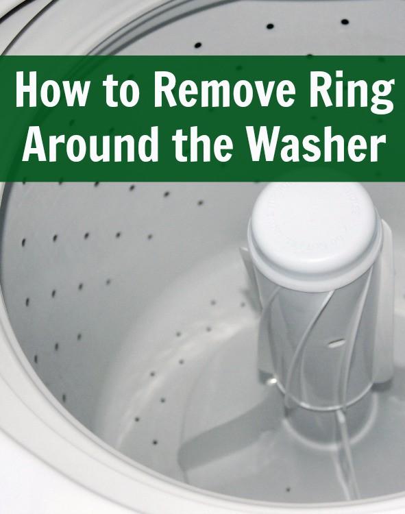 clean soap scum ring in washing machine