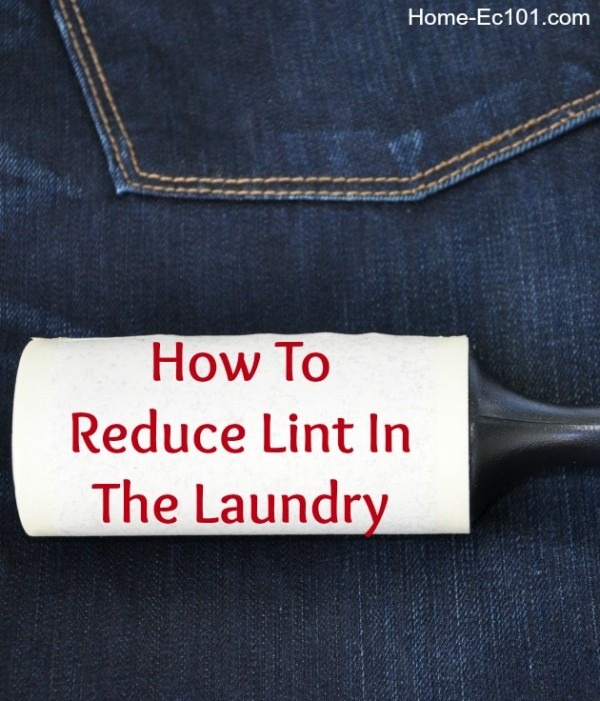 how to reduce laundry lint