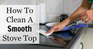 how to clean a smooth stove top