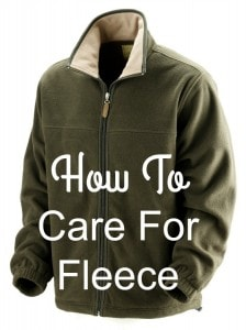 how to care for fleece