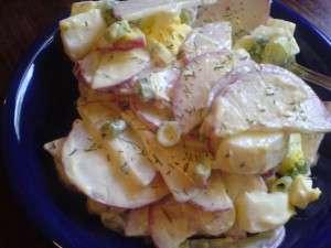 Radish and Egg Salad - ready to serve