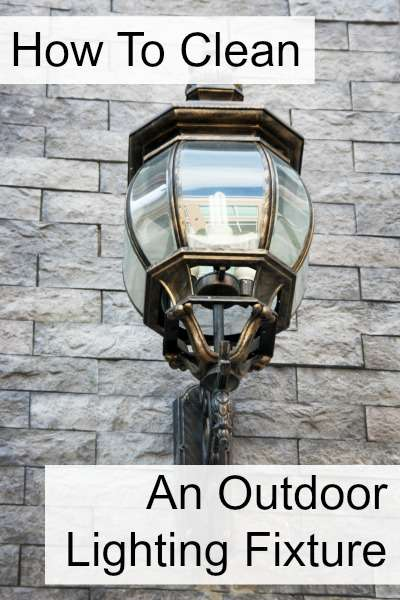 Outdoor Lighting Fixture, Cleaning Instruction Clarification