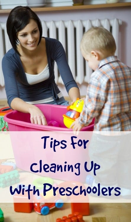 cleaning up with preschoolers
