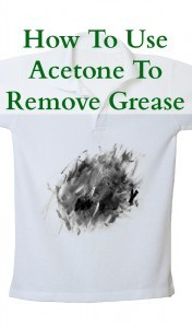 how to remove grease with acetone