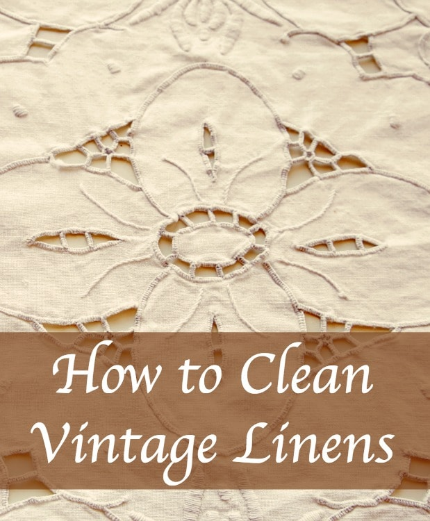 Your plan of attack with stain removal on vintage linens will depend highly on just how attached to the items you feel.