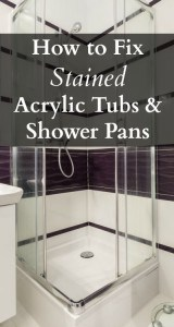 how to fix a stained tub & shower pan