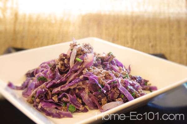 Thai Inspired Cabbage Skillet