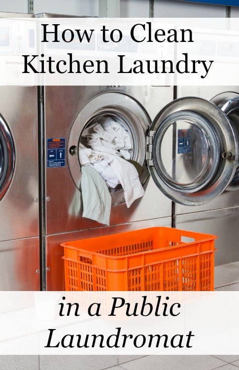 kitchen laundry in a laundromat