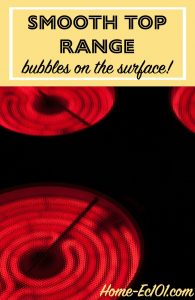 What to do if the surface of a smooth top range shows bubbles and imperfections through normal use.