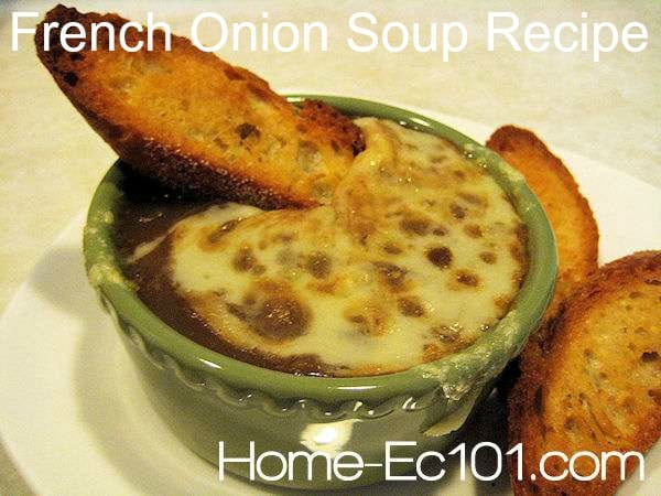 French Onion Soup Recipe. A must have for many restaurants, this timeless soup can be made at home with little more than beef broth, onions, cheese, and bread.