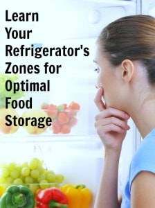 learn your refrigerator's zones