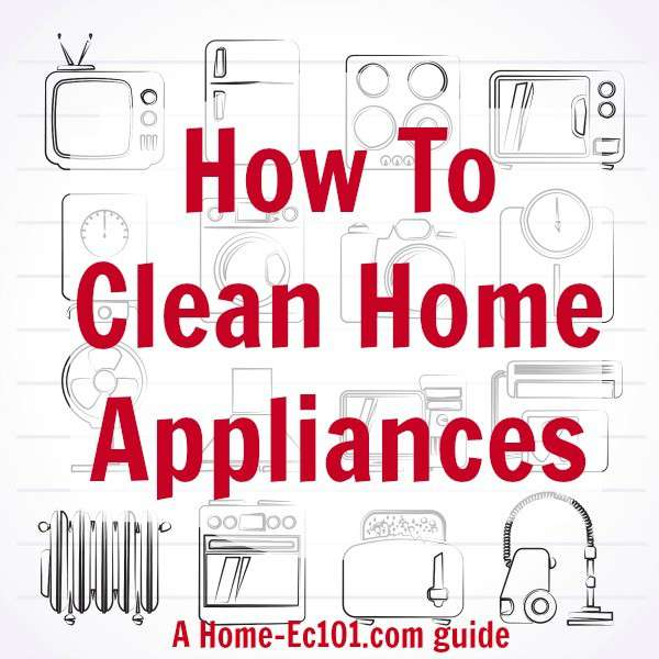 how to clean appliances